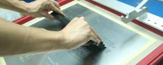 Manuelles bedrucken von SMD Leiterplatten